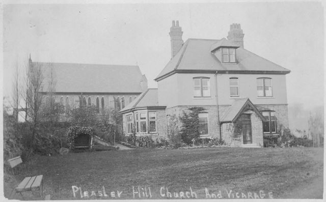St. Barnabas' Church and Vicarage, Pleasleyhill