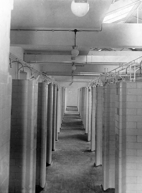 'The Modernisation of Williamthorpe Colliery 1938-40' - Shower baths at the new pithead baths