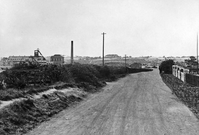 'The Modernisation of Williamthorpe Colliery 1938-40' - Old approach road, before improvements