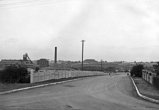 'The Modernisation of Williamthorpe Colliery 1938-40' - Approach road, after improvements