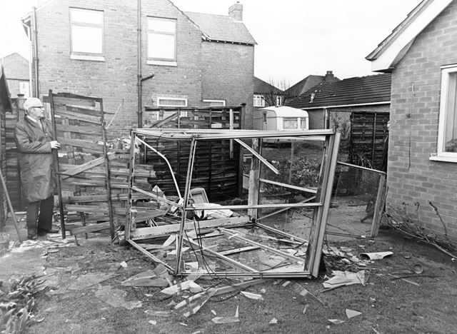 Whirlwind damage at Kevin Close