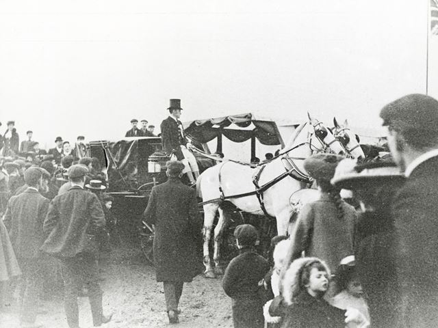 The Wedding of Miss Catts of Outwoods, Little Eaton, 1905