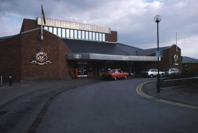 Front of Derby Railway Station